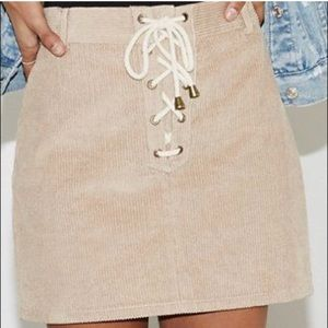 Kendall & Kylie Lace Up Skirt